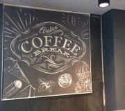 рулонные шторы кафе
